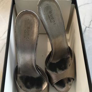 Gucci Silver Heels